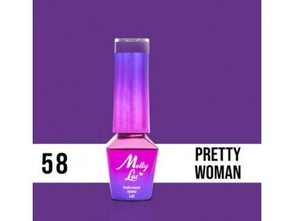 GEL LAK Molly Lac INSPIRED BY YOU PRETTY WOMAN 5ml Nr 58
