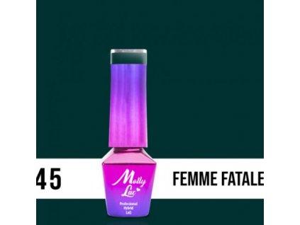 GEL LAK Molly Lac ELITE WOMEN FEMME FATALE 5ml Nr 45