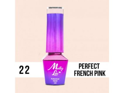 GEL LAK Molly Lac PERFECT FRENCH PINK 5ml Nr 22