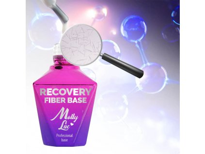 Podkladový regenerační gel lak s vlákny hedvábí NATURAL WHITE 10ml