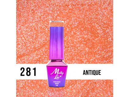 GEL LAK Mollylac Starrily Antique 5ml Nr 281