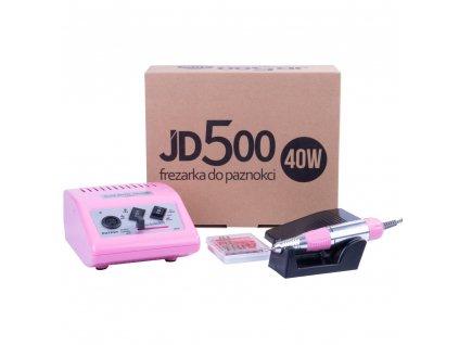 Profesionální bruska na nehty JSDA Power JD500 40W - Růžová