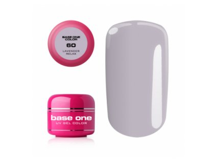 5504 silcare farebny uv gel 5ml base one levander relax 60