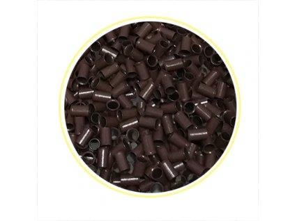 7535 eurolocky dlhe microringy 100ks brown