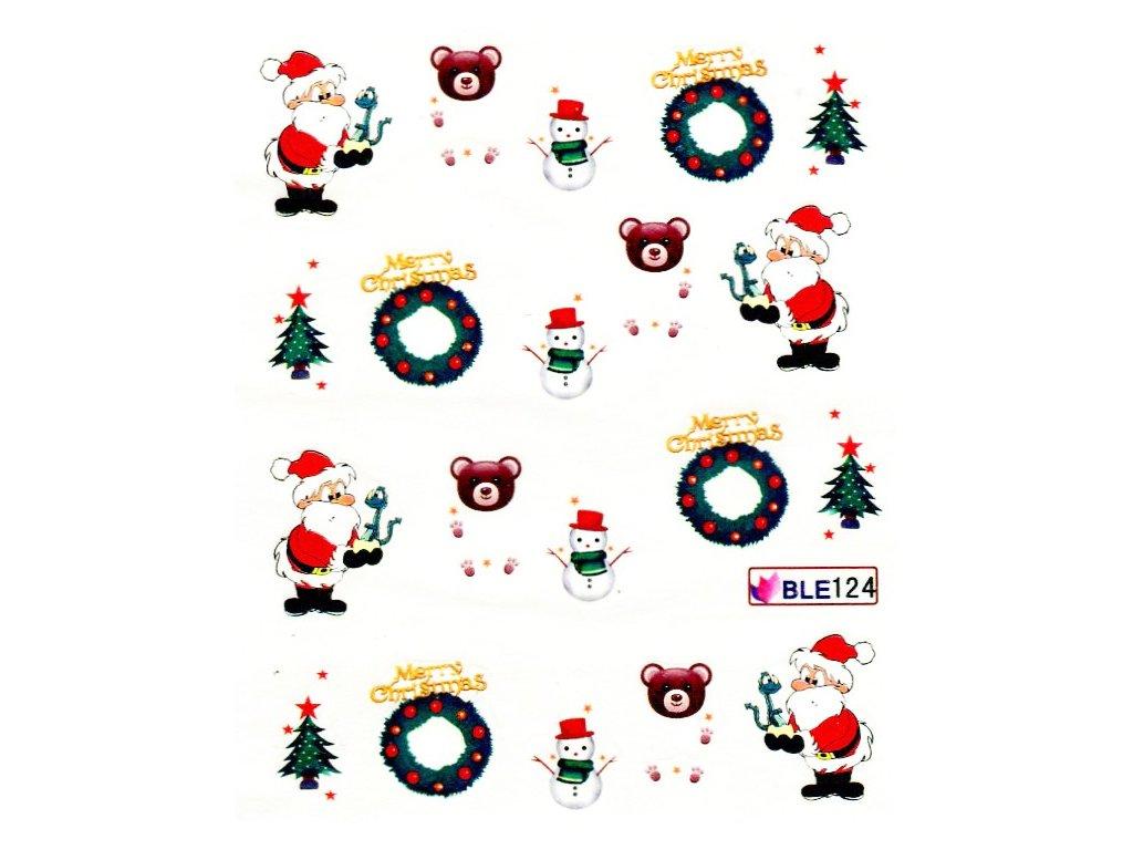 Nálepky vianočný macko 1