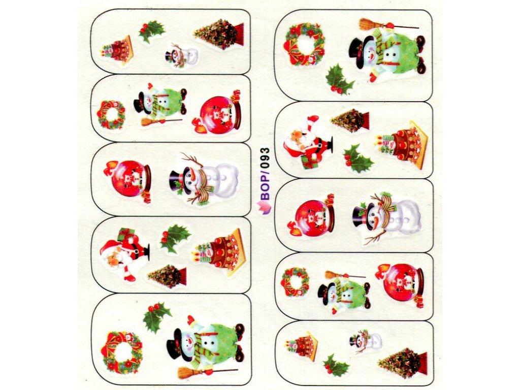 Nálepky vianočná zimna gula