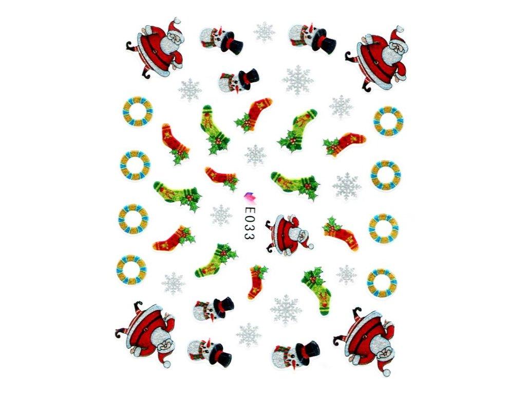 Nálepky vianočná santa čiapka