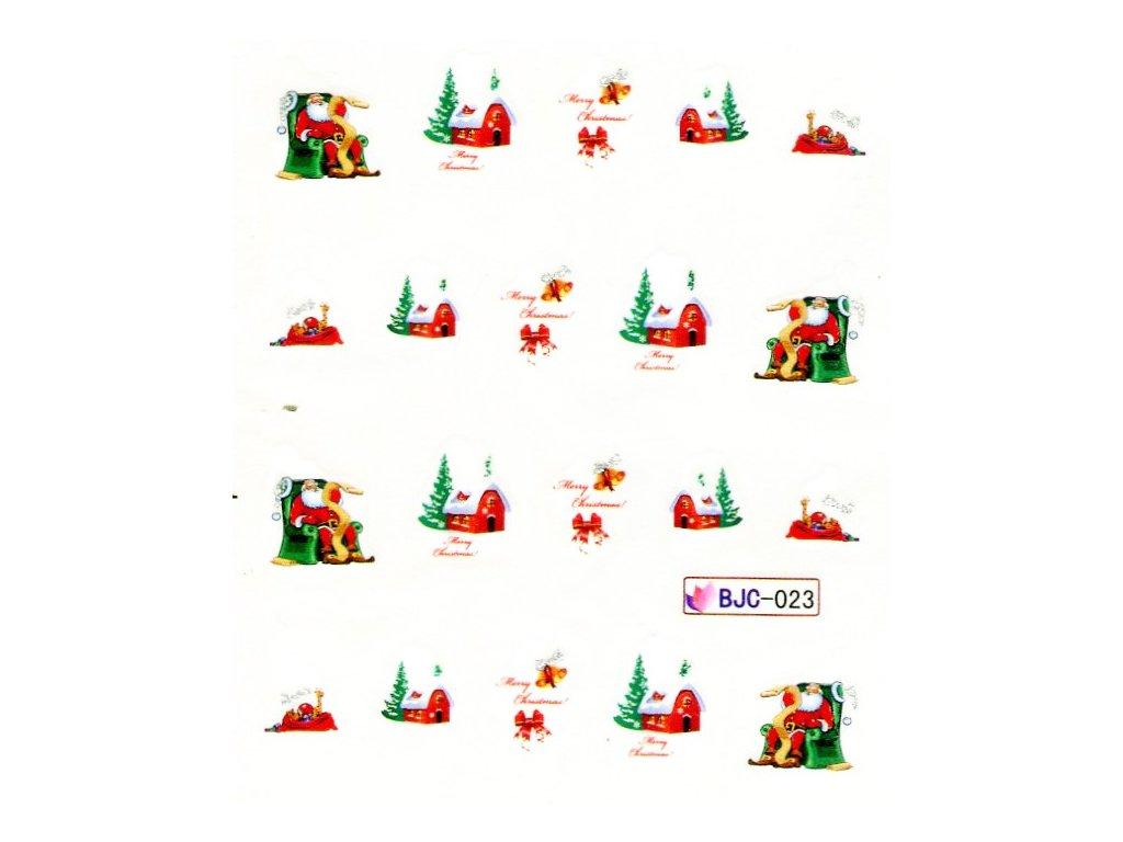 Nálepky vianočný domček 2