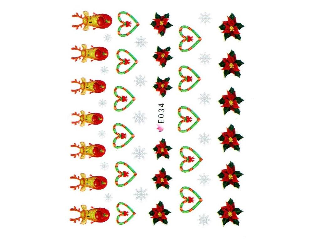 Nálepky vianočná zviera
