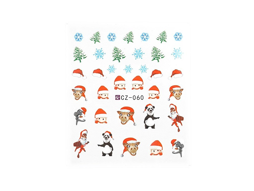 Nálepky vianočné zvieratká