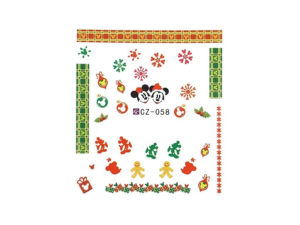 Nálepky vianočné Mickey Mouse