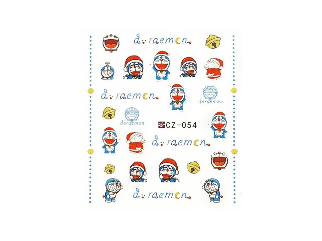 Nálepky vianočné Doraemon
