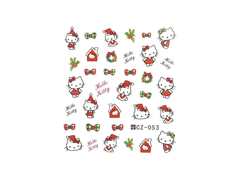 Nálepky vianočné Hello Kitty