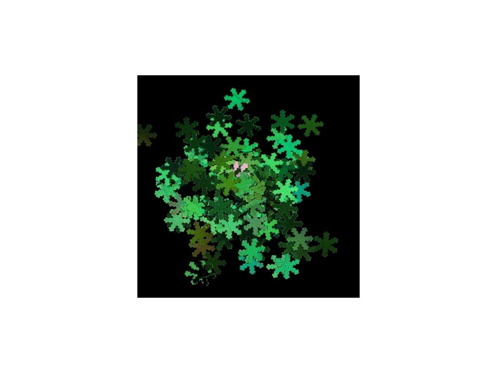 Vianočné ozdoby zelené vločky