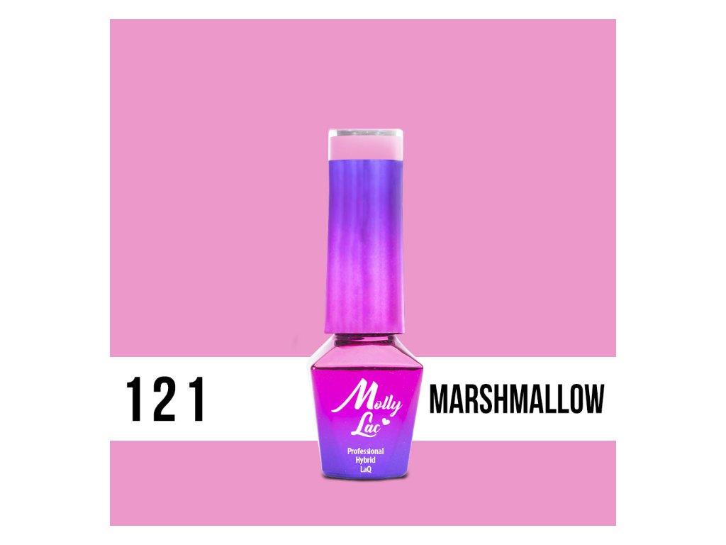 GEL LAK Molly Lac Yoghurt Marshmallow 5ml Nr 121 5ML