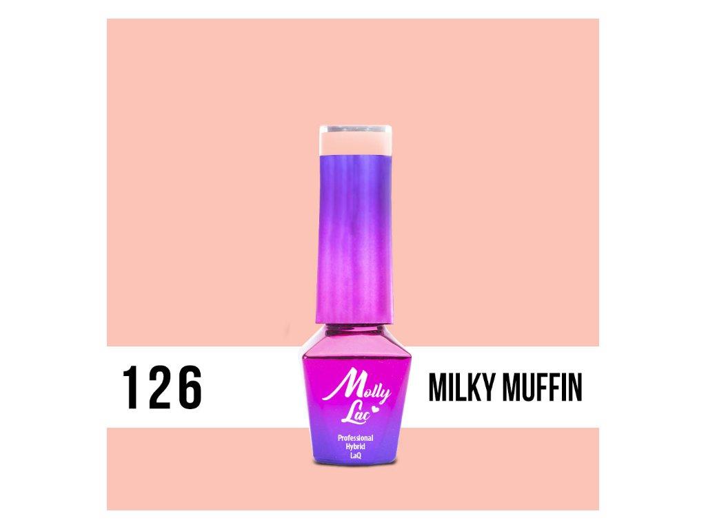 GEL LAK Molly Lac Yoghurt Milky Muffin 5ml Nr 126