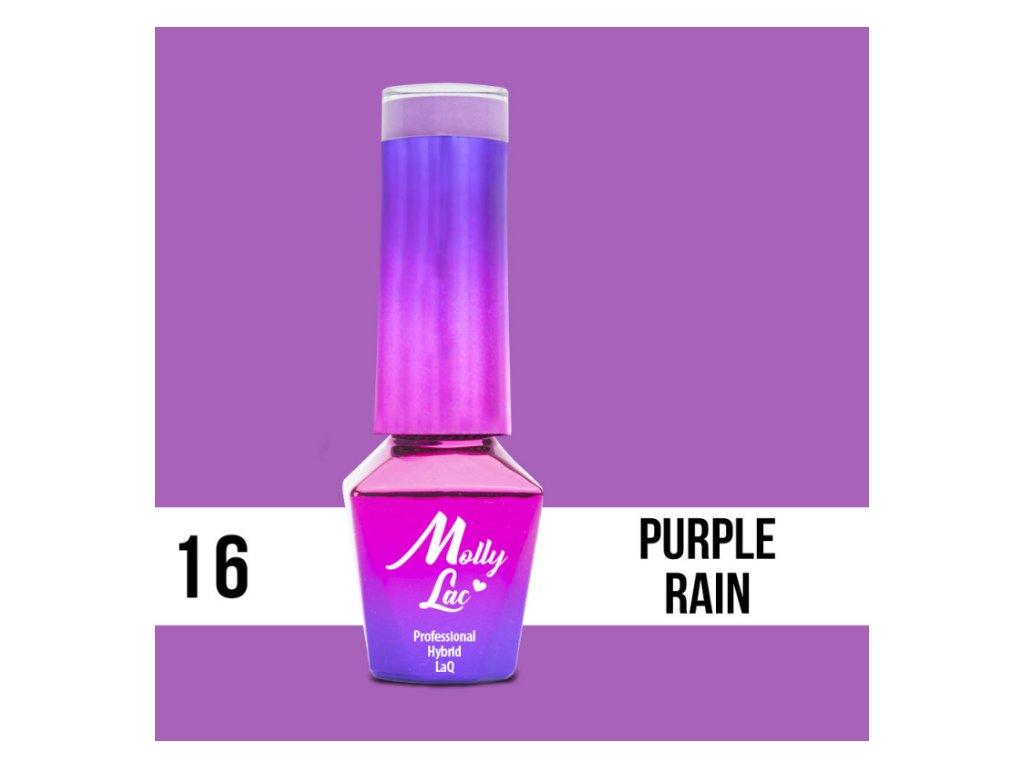 GEL LAK Molly Lac - Cocktails & Drinks - Purple Rain 5ml Nr 16