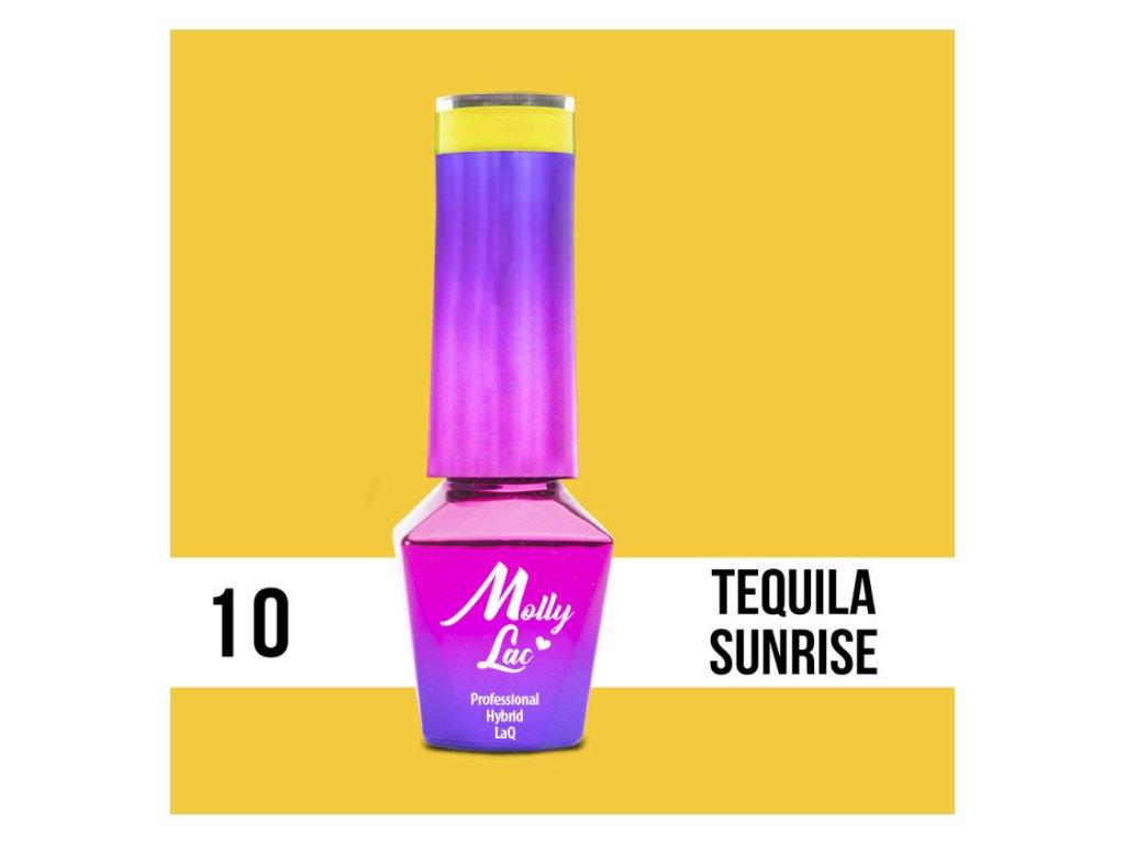 GEL LAK Molly Lac - Cocktails & Drinks - Tequila Sunrise 5ml Nr 10