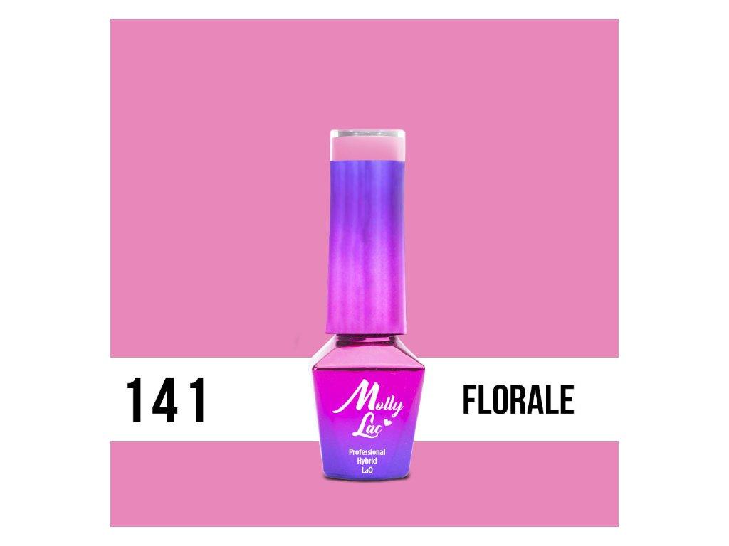 GEL LAK Molly Lac Flamingo Florale 5ml Nr 141
