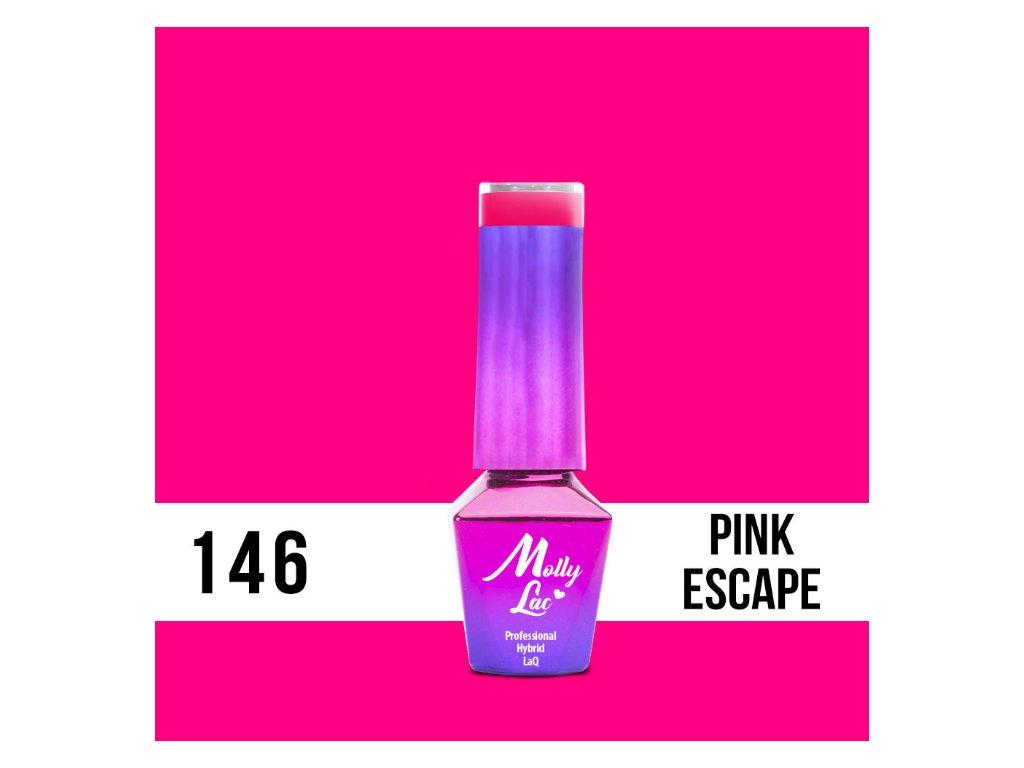 GEL LAKMolly Lac Flamingo Pink Escape 5ml Nr 146