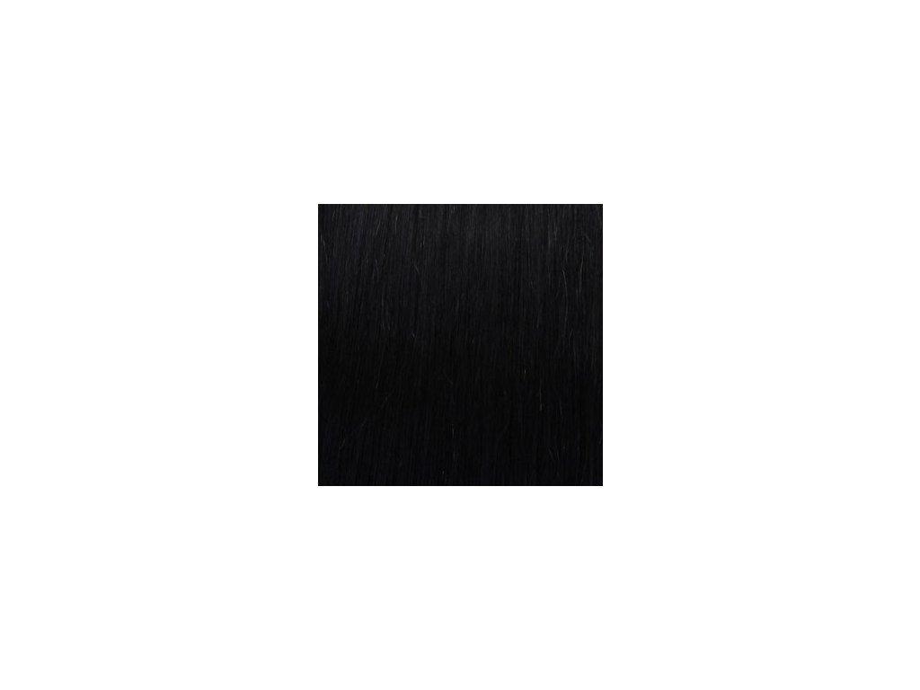 Exkluzívne clip in vlasy - odtieň 1 dlhé 50cm váha vlasov 100g
