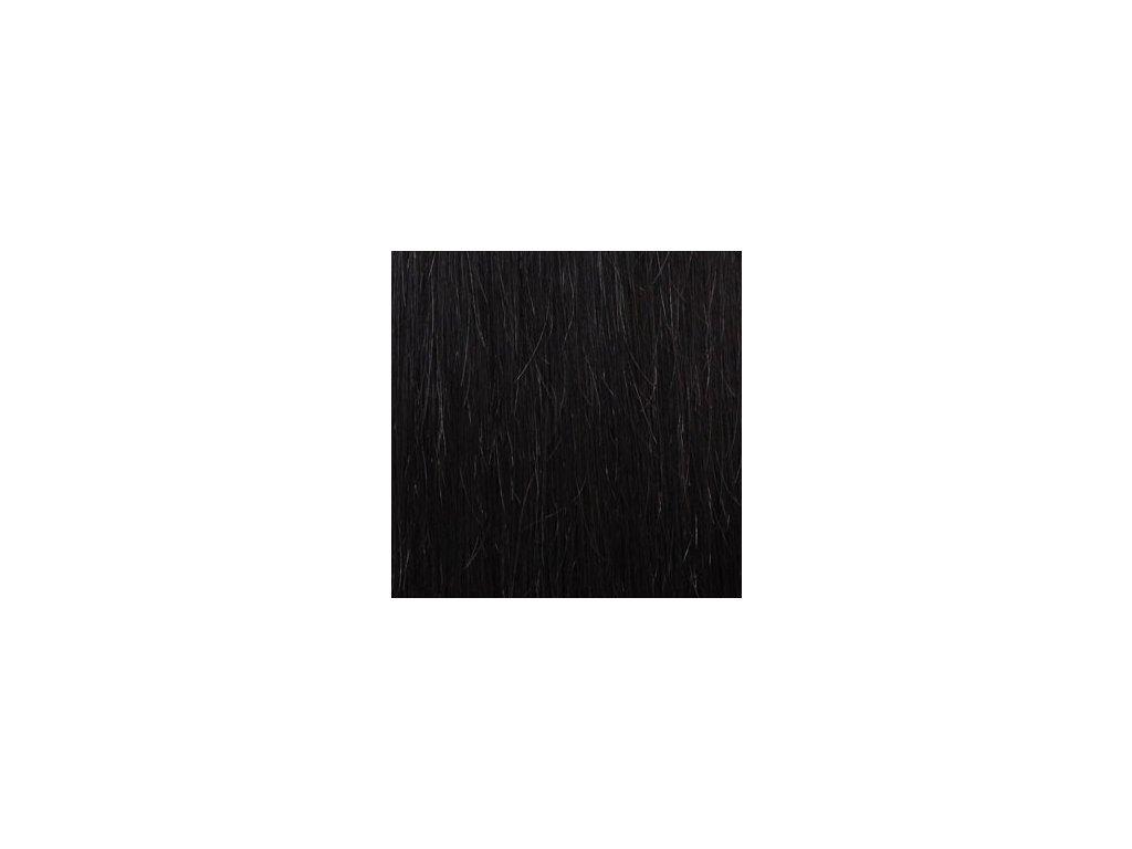 Exkluzívne clip in vlasy - odtieň 1B dlhé 50cm váha vlasov 100g