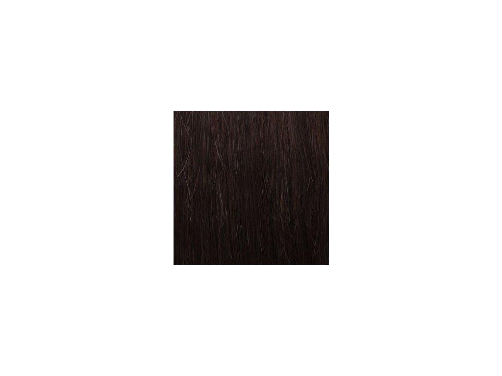 Exkluzívne clip in vlasy - odtieň 4 dlhé 50cm váha vlasov  100g