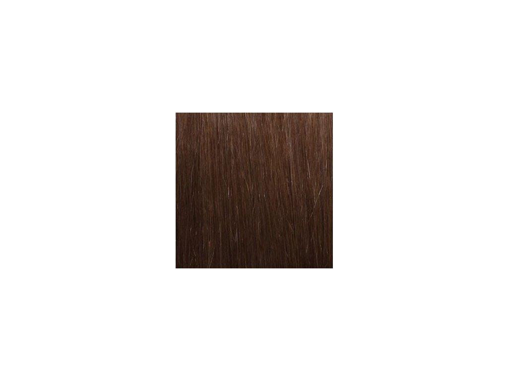 Exkluzívne clip in vlasy - odtieň 8 dlhé 50cm váha vlasov 100g