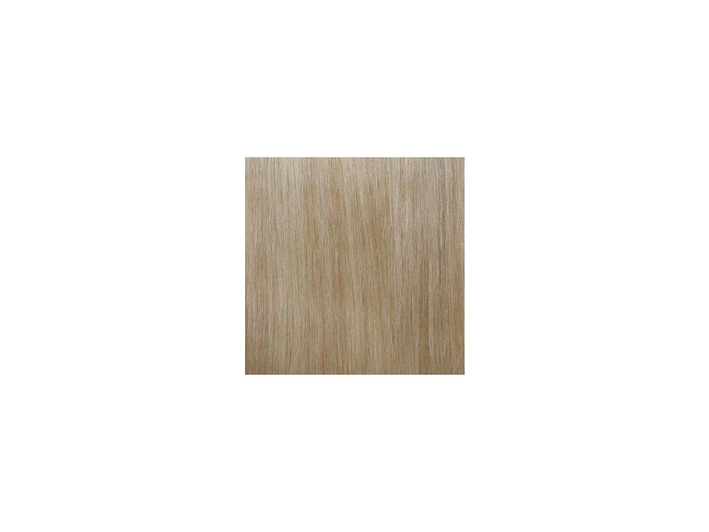Exkluzívne clip in vlasy - odtieň 613 dlhé 50cm váha vlasov 100g