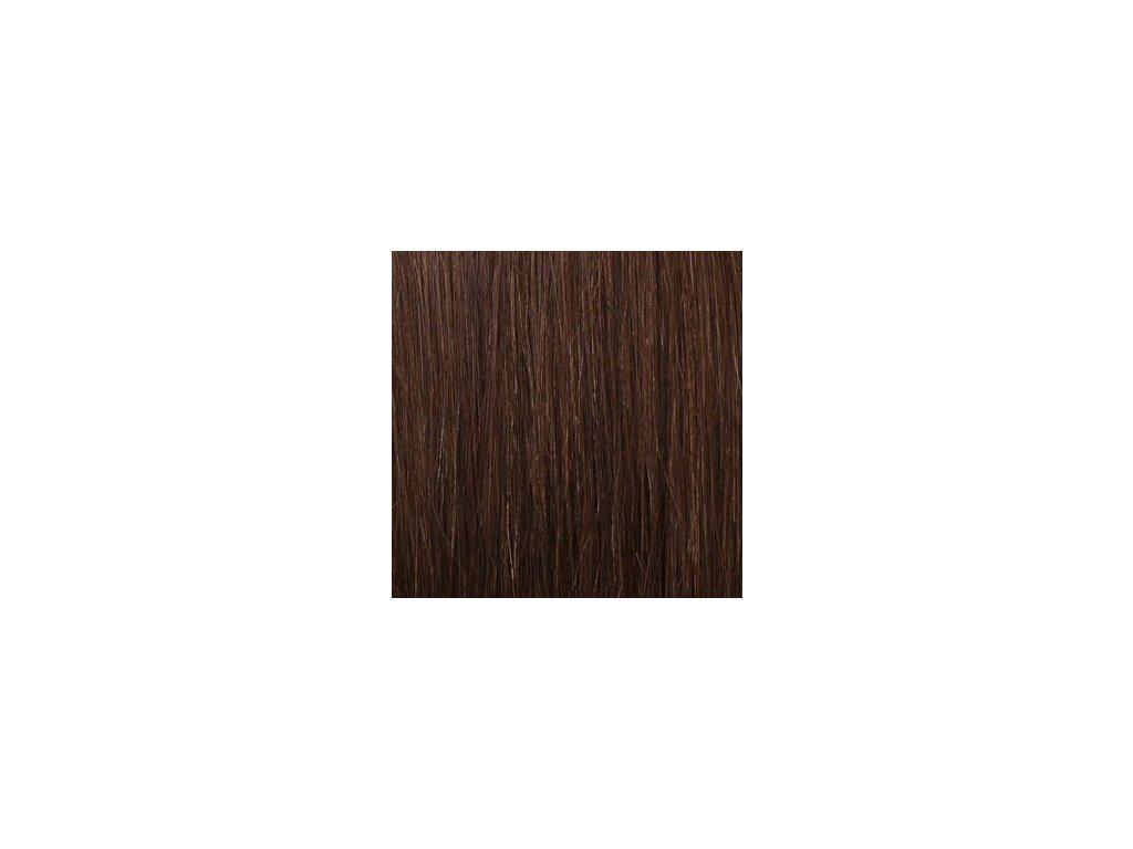 Exkluzívne clip in vlasy - odtieň 6 dlhé 60cm váha vlasov 120g