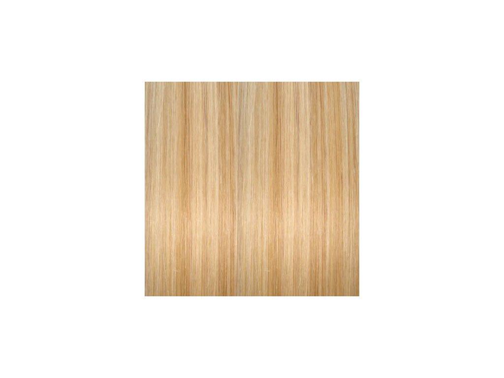 Exkluzívne clip in vlasy - odtieň 613/12  dlhé 60cm váha vlasov 120g