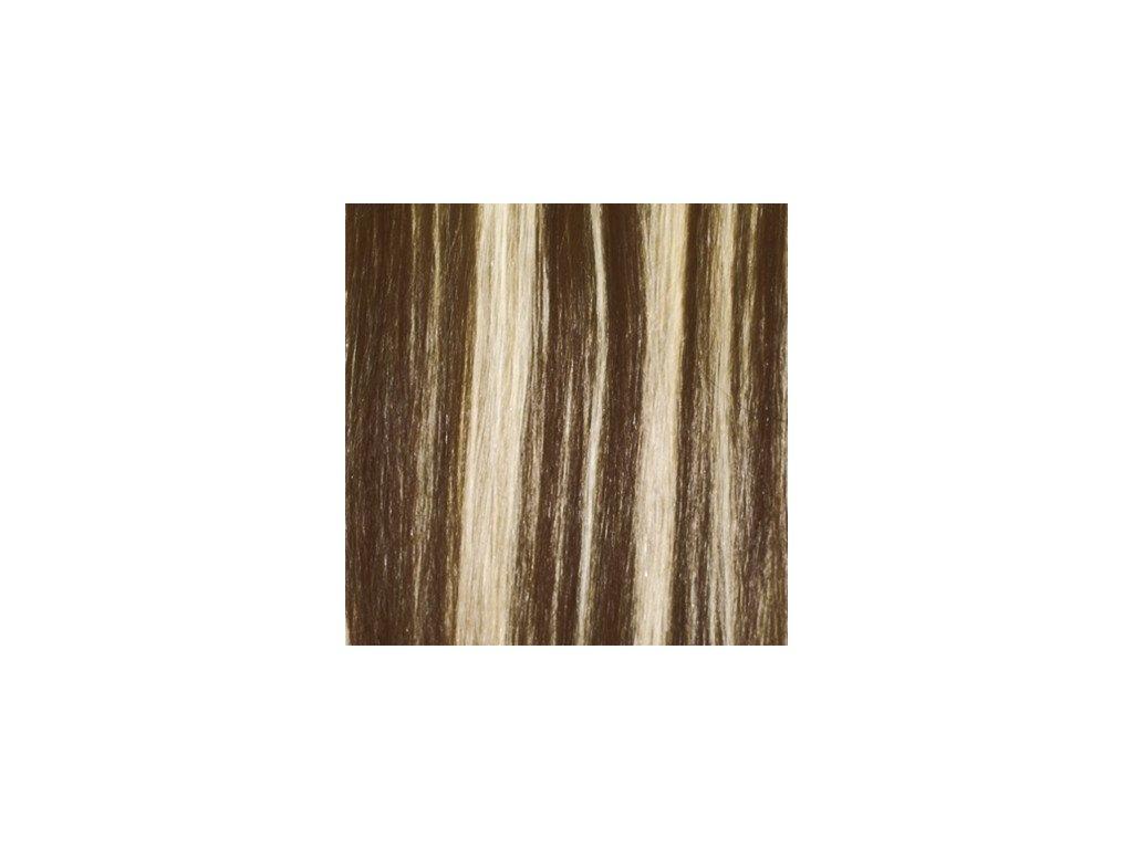 Exkluzívne clip in vlasy - odtieň 4/613  dlhé 60cm váha vlasov 120g