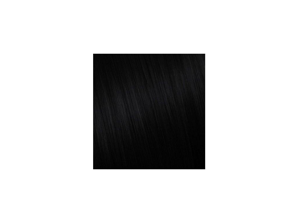 Ruské vlasy - ČIERNA PRÍRODNÁ - 85cm a viac 10g