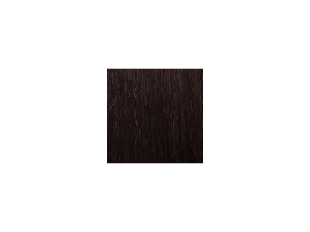 REMY vlasy keratín #4 tmavo hnedá