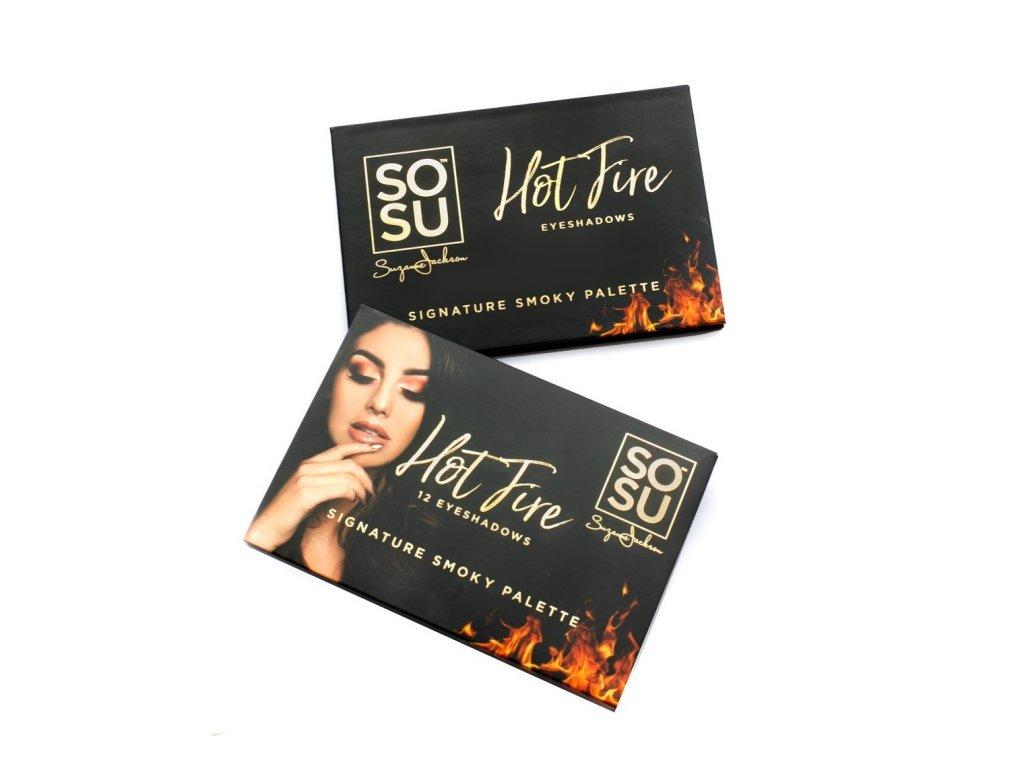 SOSU - Paletka očných tieňov HOT FIRE