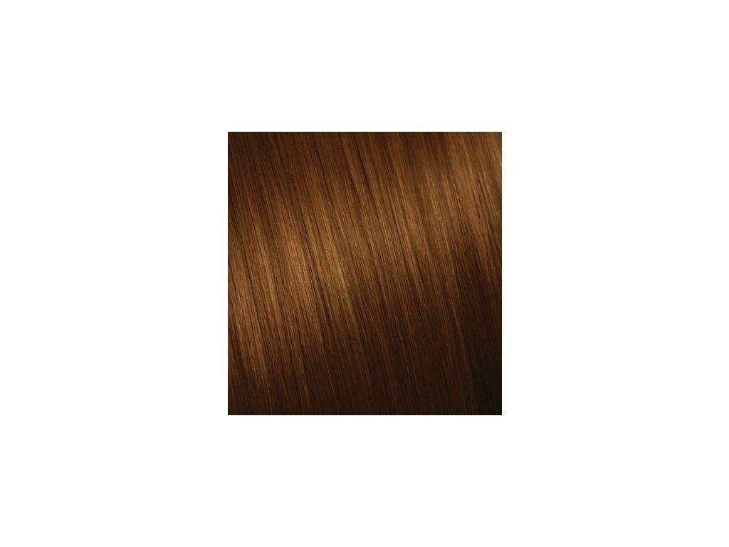 Ruské vlasy - SLABO HNEDÁ 80-85cm 10g