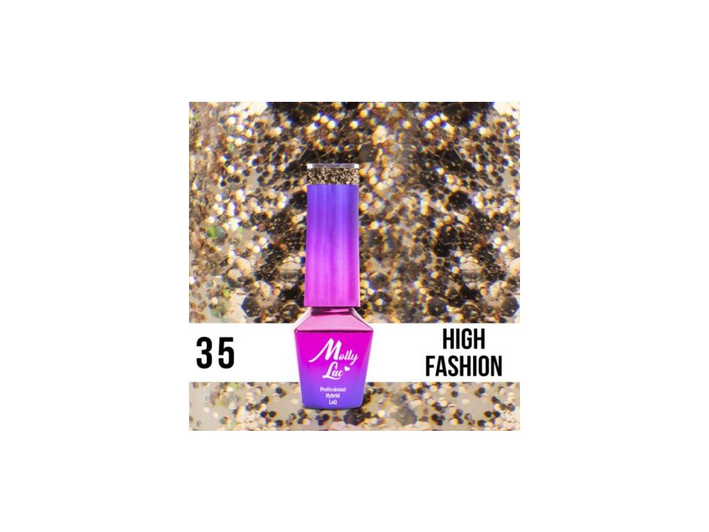 GEL LAK Molly Lac QUEENS OF LIFE HIGH FASHION 5ml Nr 35