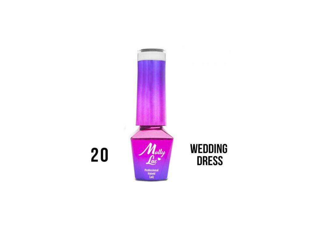 GEL LAK Molly Lac WEDDING YES, I DO WEDDING DRESS 5ml Nr 20