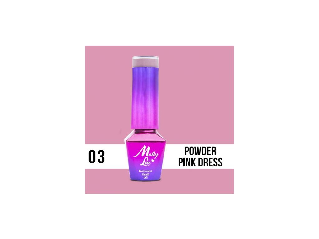 GEL LAK Molly Lac Glamour Women Powder Pink Dress 5ml Nr 3