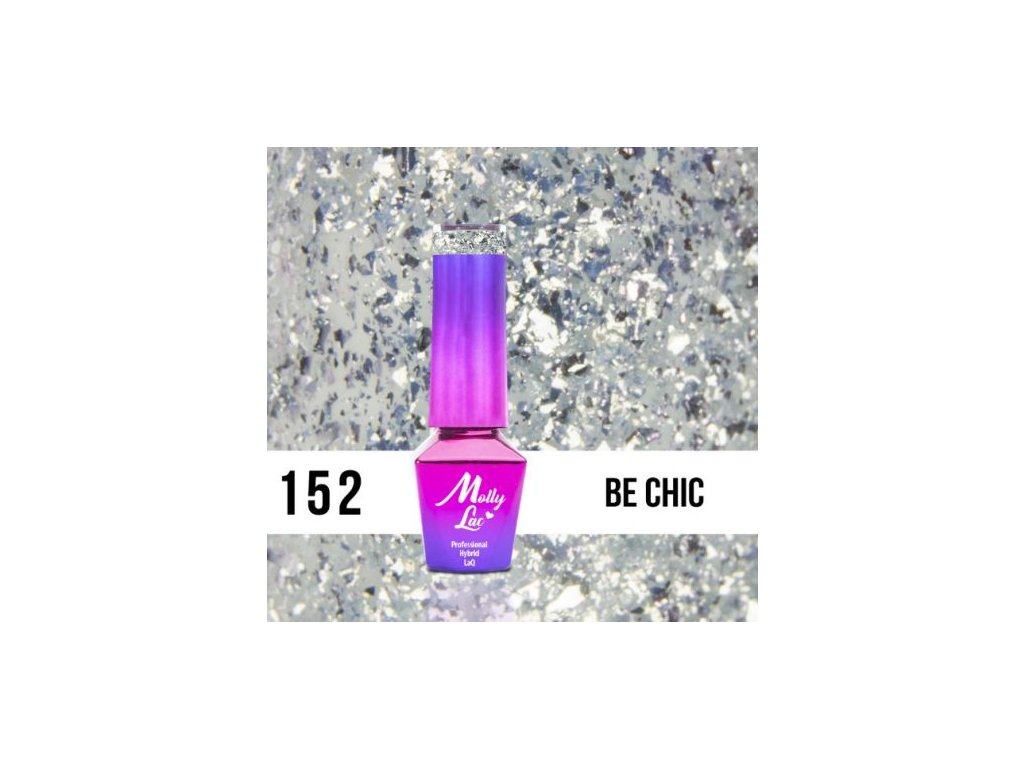 GEL LAK Molly Lac Molly Lac Gem & Silver Be Chic 5ml Nr 152
