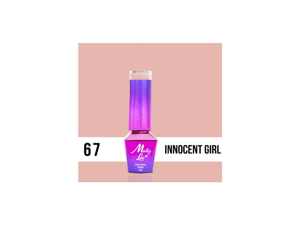 GEL LAK Molly Lac DELICATE WOMAN INNOCENT GIRL 5ml Nr 67