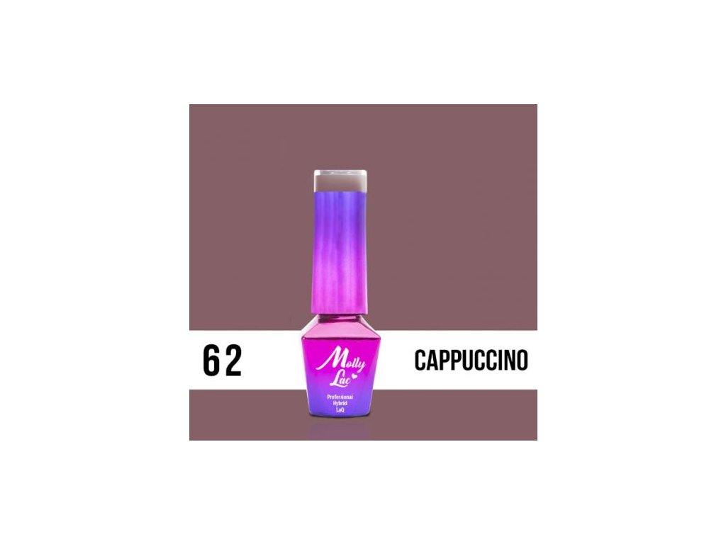 GEL LAK Molly Lac DELICATE WOMAN CAPPUCCINO 5ml Nr 62