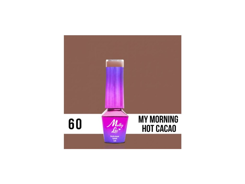 GEL LAK Molly Lac DELICATE WOMAN MY MORNING HOT CACAO 5ml Nr 60
