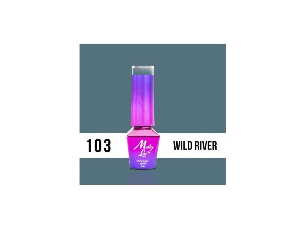 GEL LAK Molly Lac Molly Lac Pure Nature Wild river 5ml Nr 103