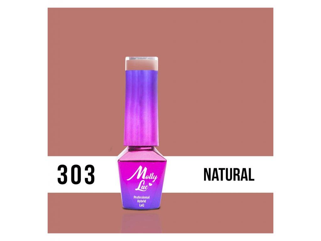 303. MOLLY LAC gél lak - Natural 5ml