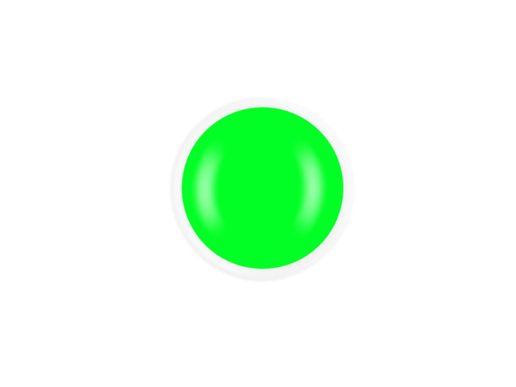 Neon lime green uv gél Dreamnails 5ml