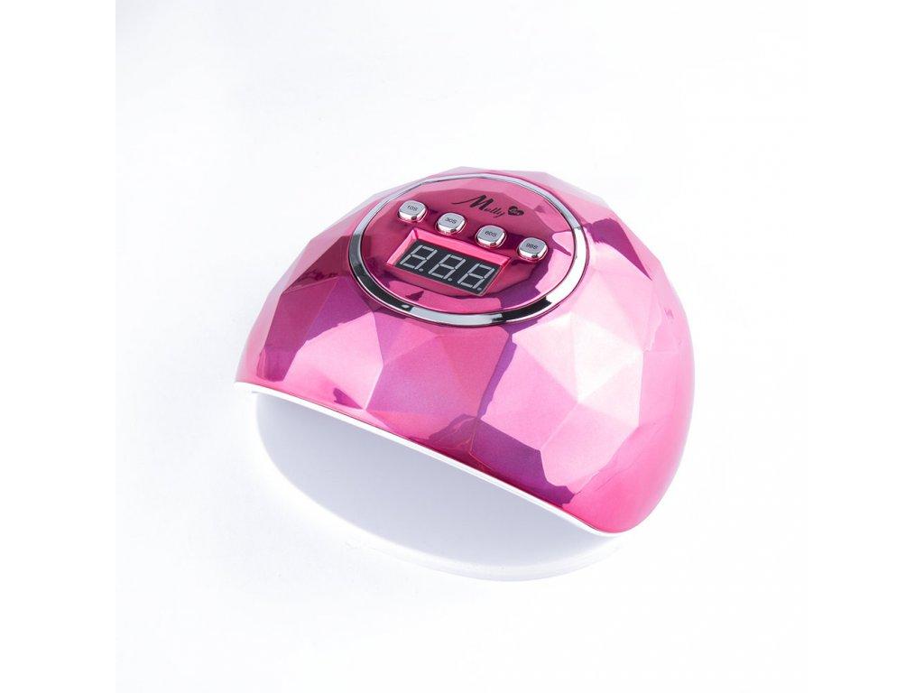 lampa do paznokci uvled 86w do lakierow hybrydowych mollylux f6 diament rozowa metaliczna