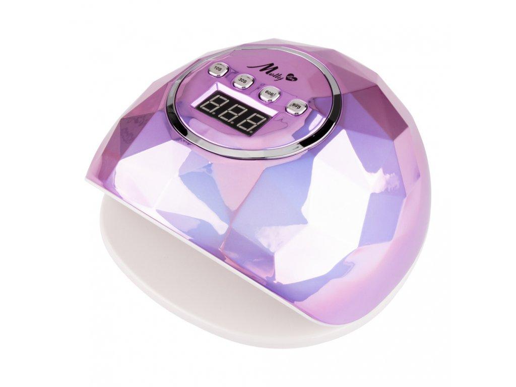 lampa do paznokci uvled 86w do lakierow hybrydowych mollylux f6 diament fioletowy metaliczny