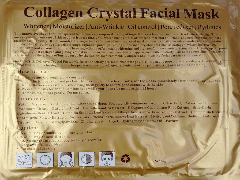 Gold Bio - Kolagénová maska na tvár - Zlatá