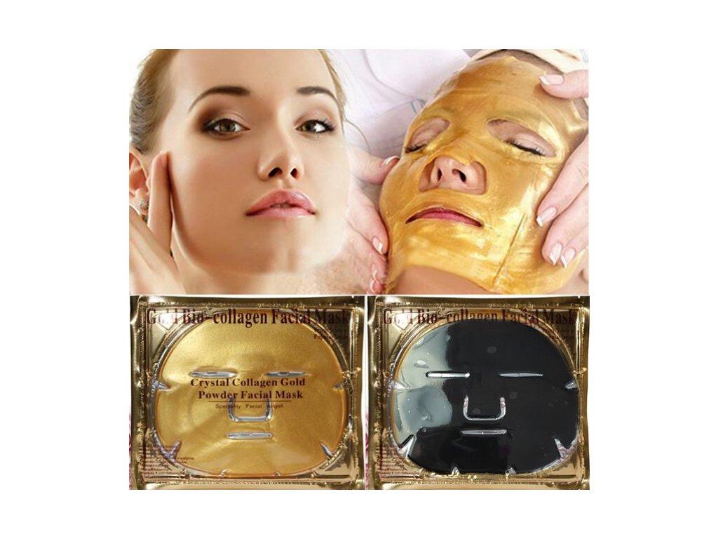Gold Bio - Kolagénová maska na tvár - Čierna